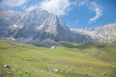 Cottage in Cantabrian mountains Stock Image