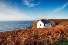 Cottage at Cape Cornwall Royalty Free Stock Photography