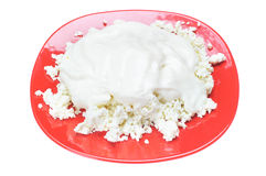 Cottage cheese. Stock Photography