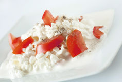 The cottage cheese Royalty Free Stock Photo