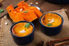 Free Cottage Cheese And Pumpkin Pudding Stock Image - 67134101