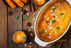 Free Cottage Cheese And Pumpkin Pudding Royalty Free Stock Photography - 67134107