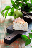 Cottage cheese and apple pie Royalty Free Stock Photography