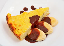 Cottage cheese baked pudding Royalty Free Stock Photos