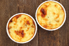 Cottage cheese baked pudding Royalty Free Stock Image