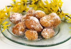 Cottage cheese balls Stock Images