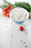 Cottage cheese Royalty Free Stock Images