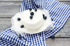 Cottage cheese with blueberries Stock Photo