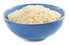 Cottage cheese in bowl Royalty Free Stock Photo