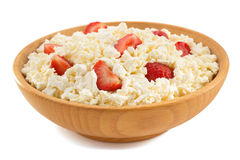 Cottage cheese in bowl Stock Photography