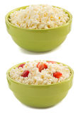 Cottage cheese in bowl Stock Photos