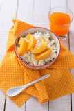 Cottage cheese for breakfast Stock Photo