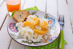Cottage cheese for breakfast Royalty Free Stock Photo