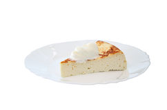 Cottage cheese cake with mandarin and nuts Stock Images