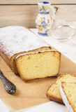 Cottage cheese cake with semolina. On a light background Stock Photos
