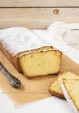 Cottage cheese cake with semolina. On a light background Stock Image