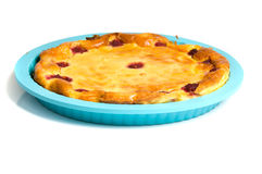 Cottage cheese casserole. Cottage cheese pie on a white background Stock Photo