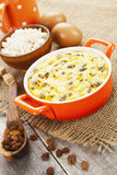 Cottage cheese casserole Stock Photo