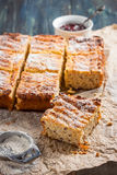 Cottage cheese casserole with quinoa. Stock Photo