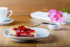 Cottage cheese casserole with raspberry jam Stock Photography