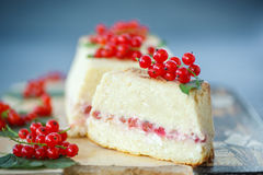 Cottage cheese casserole Stock Images