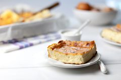 Cottage cheese casserole royalty free stock photography