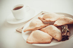 Cottage cheese cookies Stock Photos