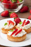 Cottage cheese cream toast Stock Photography