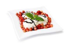 Cottage Cheese Dessert Stock Images