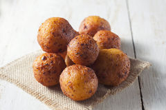 Cottage cheese donuts Stock Image