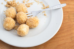 Cottage cheese dumplings Royalty Free Stock Images