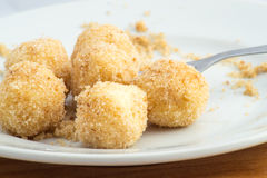 Cottage cheese dumplings Stock Photo