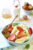 Cottage cheese dumplings with strawberry. Royalty Free Stock Image