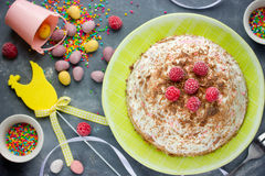 Cottage cheese Easter dessert Stock Photo