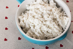 Cottage cheese Royalty Free Stock Photos