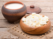 Cottage cheese Stock Images