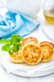 Cottage cheese fritters Stock Photography