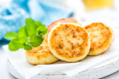 Cottage cheese fritters Stock Photo