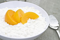 Cottage Cheese and Fruit Royalty Free Stock Photography
