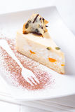 Cottage cheese and fruit cake Stock Photography