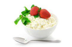 Cottage cheese with garnish Stock Photography