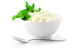Cottage cheese with garnish Stock Photos