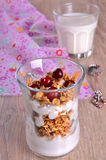 Cottage cheese and granola Stock Image