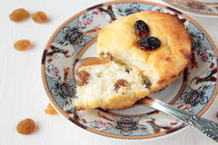 Cottage cheese gratin with raisins Royalty Free Stock Photo