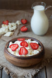 Cottage cheese healthy organic nutrition breakfast Royalty Free Stock Image