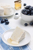 Cottage cheese with honey Royalty Free Stock Image