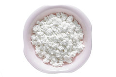 Cottage cheese isolated Royalty Free Stock Image