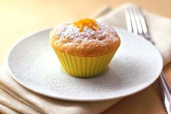 Cottage cheese muffin Stock Photo