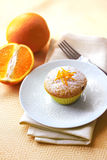 Cottage cheese muffin with raisins and orange zest Stock Photography