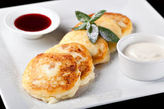 Cottage cheese pancake Stock Images